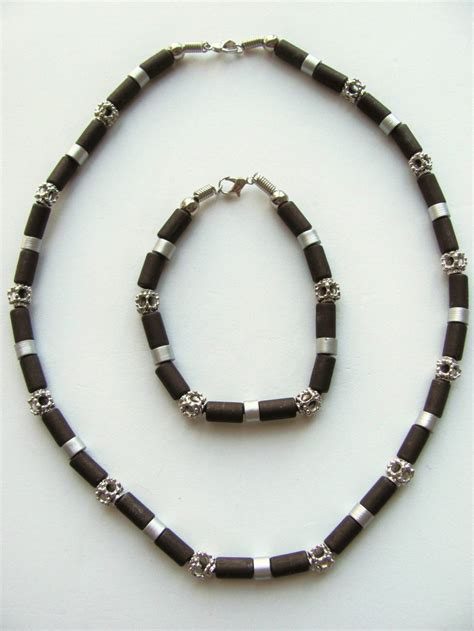 boys beaded necklace daytona two tone brown surfer beaded necklace