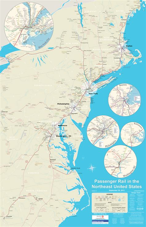 passenger map usa all northeast us passenger rail on one awesome map