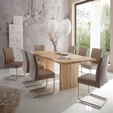 Industrial Dining Room Table Esszimmer Sitzgruppe Zerval Aus Eiche Massivholz Pharao24 De