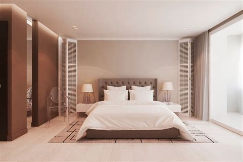 warm bedroom warm modern interior design