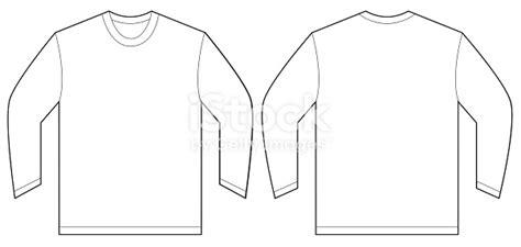 Sleeve T Shirt Design Template White Long Sleeve Tshirt Design Template Stock Vector Art More Images Of 2015 500616240 Istock