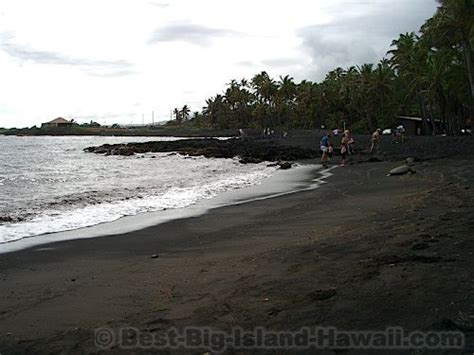 black sand island black sand beach big island hawaii