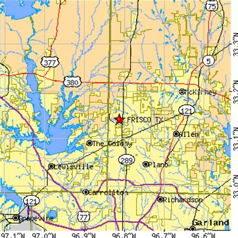 frisco texas map frisco tx zip code map pictures to pin on pinsdaddy