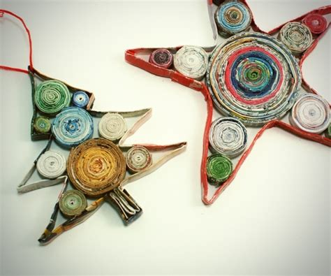 Recycled Magazine Paper Crafts - recycled paper crafts home for the holidays
