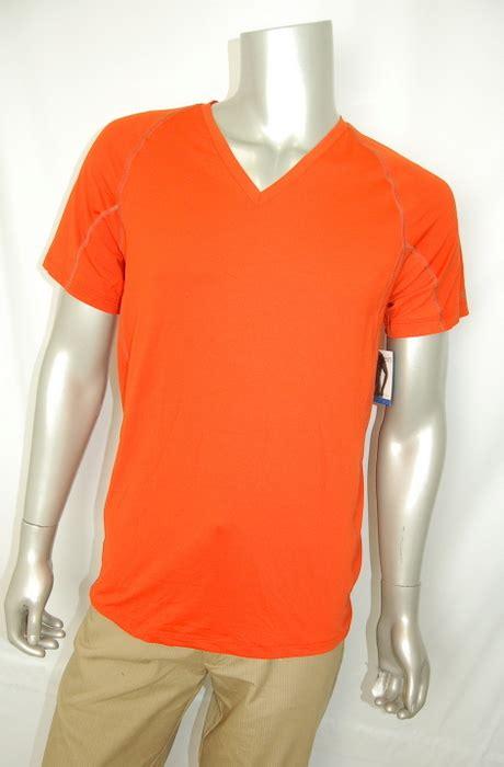 Vioree T Shirt Orange V Neck Size L Calvin Klein Athletic New S Performance V Neck T