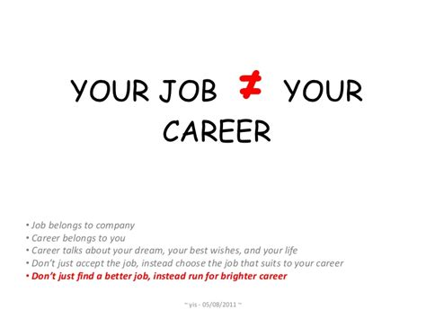 your job is not your career part 1