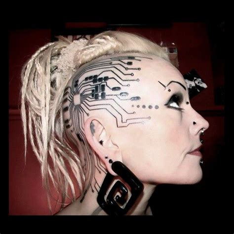 futuristic tattoo designs wow cyber cyborg cyberpunk technology tech
