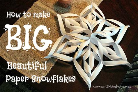 How To Make Large 3d Paper Snowflakes - fan tastic snowflakes http spoonful deck