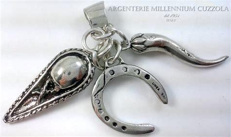 ciondoli porta fortuna portafortuna ciondoli argento feluca corno ferro di