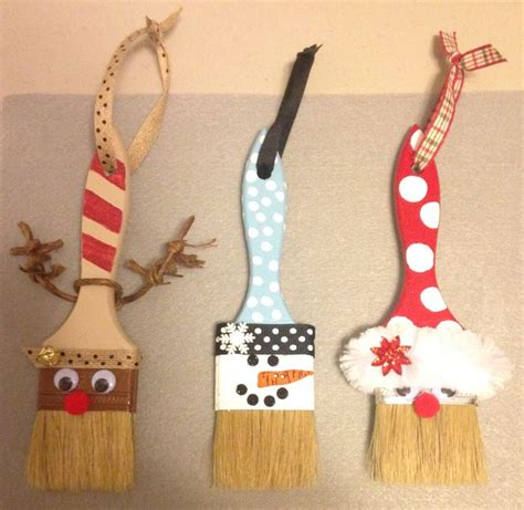 holiday paint brushes christmas ornament crafts christmas crafts diy christmas ornaments