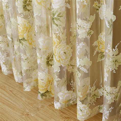 sheer floral curtains aliexpress com buy hot high quality modern rose floral