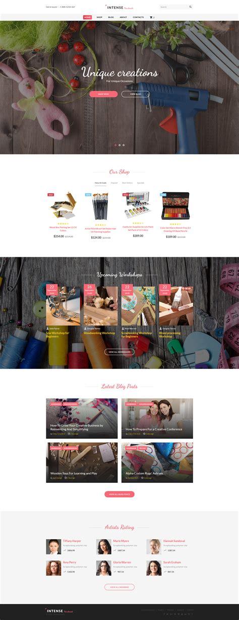templates for handicrafts website hobby supplies website template