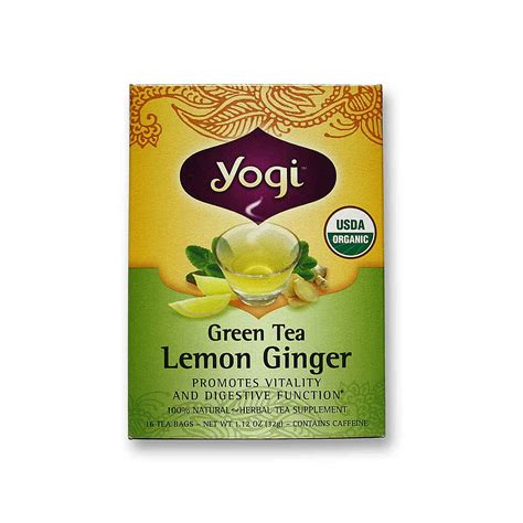 Yogi Lemon Detox Tea by Evitamins Yogi Tea Organic Teas Green Tea Lemon