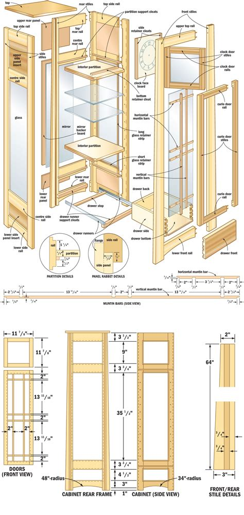 cabinet design plans free free woodworking plans curio cabinets quick woodworking