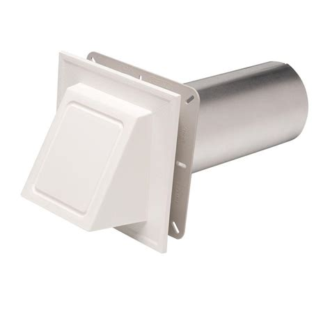 cellwood white hooded dryer vent dryerhd04h the home depot