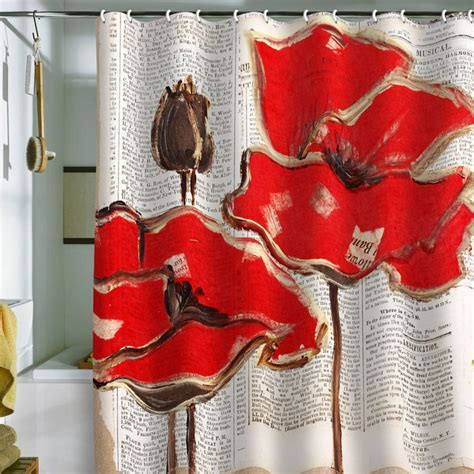 shower curtains with red in them irena orlov red perfection shower curtain poppies i