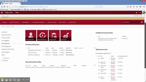 facility management template office 365 sharepoint facilities management template