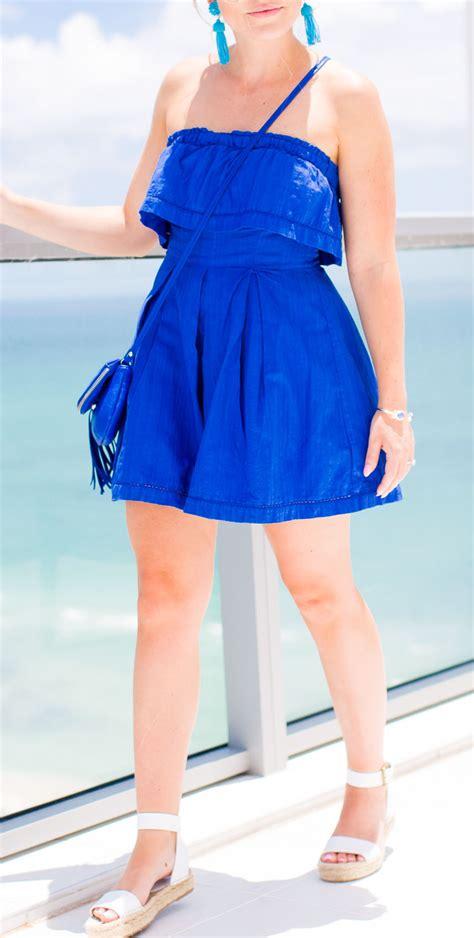 Blue Cullote blue culotte romper color by k