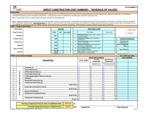 excel construction project budget template business