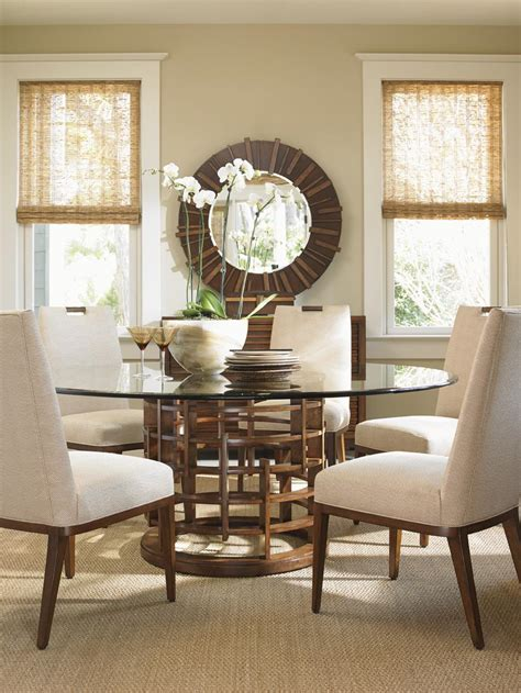 tommy bahama island fusion living room furniture tommy bahama home island fusion meridien dining table with