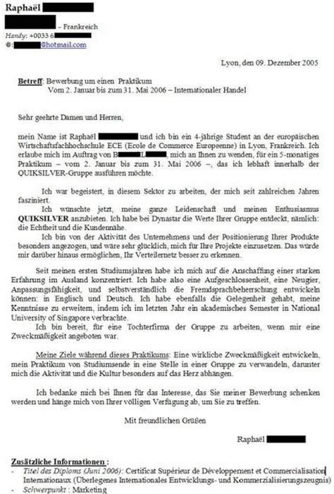Exemple De Lettre Amicale En Allemand lettre de motivation en allemand exemples et conseils
