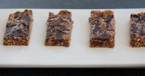 peanut butter bars with chocolate on top chocolate peanut butter protein bars blogher