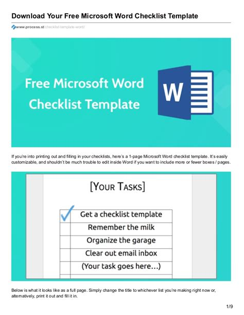 Download Your Free Microsoft Word Checklist Template Microsoft Word Checklist Template
