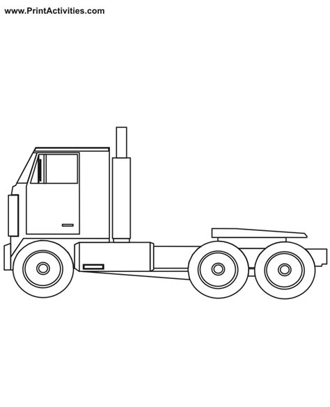 coloring pages of tractor trailers free coloring pages of tractor trailer