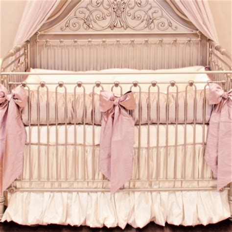 Crown Crib by Dauphine Pink Damask Wallpaper Crown Interiors