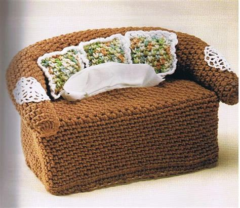 crochet sofa cover patterns pin by wise on crochet tissue boxes