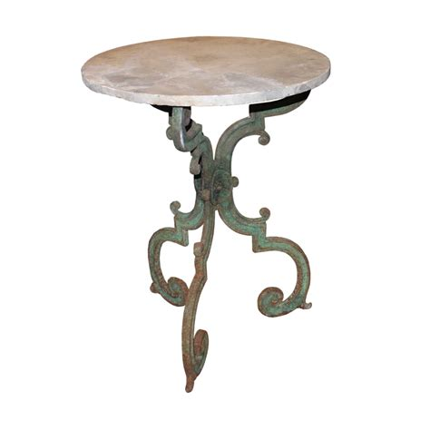Wrought Iron Bistro Table Wrought Iron Marble Top Bistro Table Foxglove Antiques Galleries