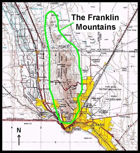 map of mountains in texas the franklin mountains and locally produced terrain forced flow