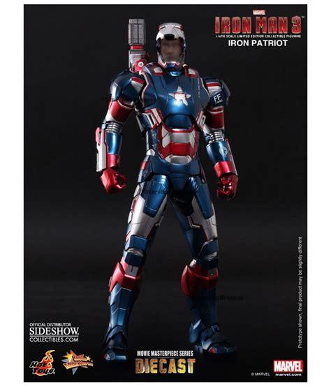 Ironman Figure Iron Patriot 1 iron 3 iron patriot masterpiece 1 6 figure 12 quot diecast