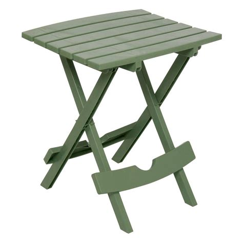 Folding Patio Side Table Manufacturing Quik Fold Patio Side Table 8500 01 3700 The Home Depot