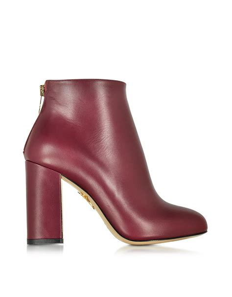 burgundy leather boots olympia alba burgundy leather ankle boot in