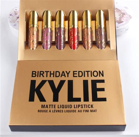 Lipstick Birthday Edition Seri A 1 new brand 2017 jenner lipstick birthday edition gel eyeliner by jenner with