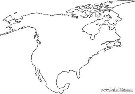 coloring page map of north america north america coloring pages hellokids com