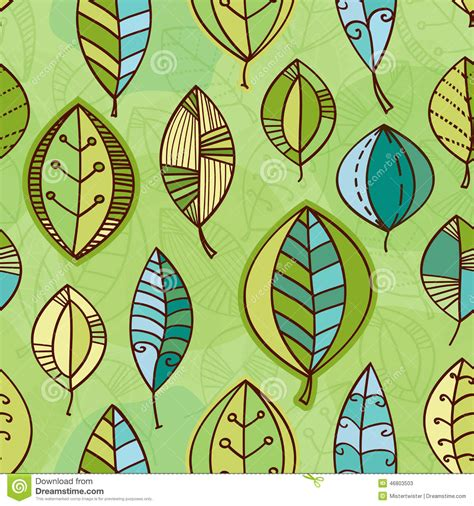 abstract pattern nature vector leaf seamless pattern abstract nature stock vector