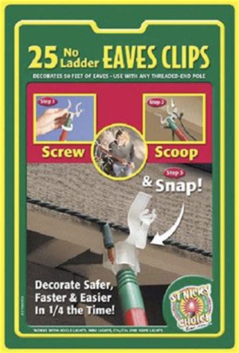 25 count dyno st nicks choice gutter light hangers dyno seasonal solutions st nick s choice 25 count gutter shingle hook hardware roofing