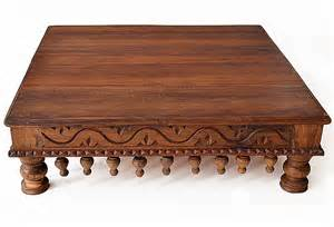 indischer tisch carved low table indian furniture bringing it all back