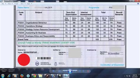 Mba From Scdl by Nipm Sle Marksheet Of Pgdbm