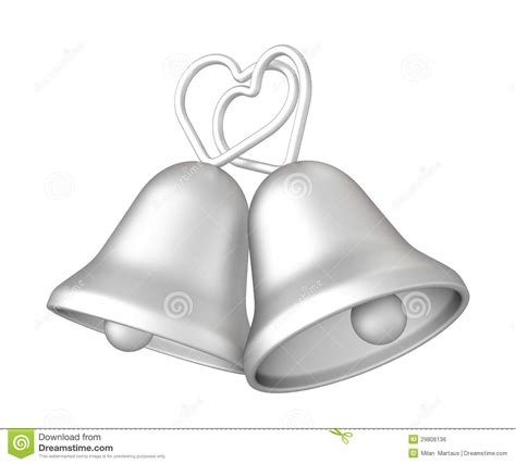 Wedding Bells No Background by 3d Silver Wedding Bells Royalty Free Stock Image Image