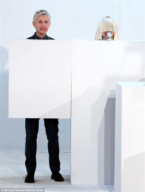Chandelier Ellen Sia Only Shows Her Head During Bizarre Ellen Show