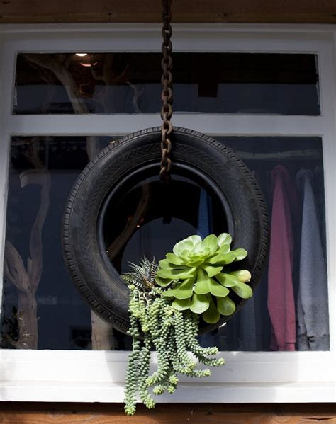 Home Decor More | dishfunctional designs upcycled recycled tires art