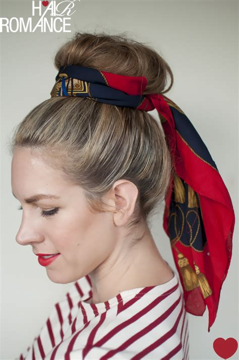 5 ways to wear a scarf and top knot 2 the sash hair