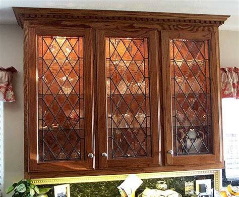 Kitchen Cabinet Door Glass Inserts | kitchen photos with stained glass door