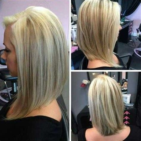 short angled bobs that can be wore straight or curly simple long angled bob hairstyles side part for straight