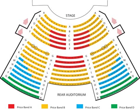 seating plan seating plan exeter northcott theatre