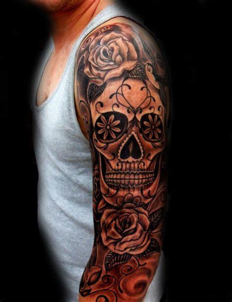 sugar skull sleeve tattoos 100 sugar skull designs for cool calavera ink
