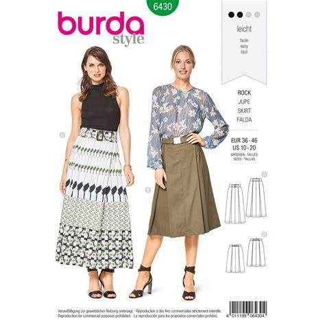 pattern review weekend 2018 burda burda style pattern b6430 misses pleated skirts